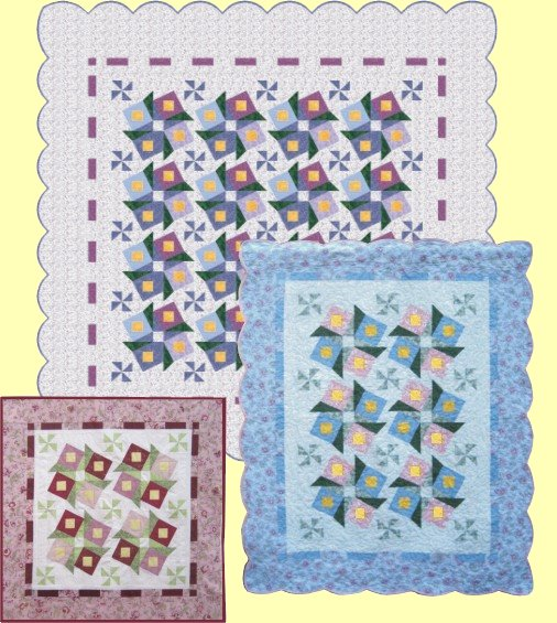 Qdnw bed of roses quilt pattern for Bed quilting designs