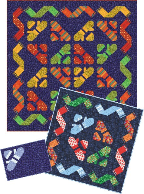 Knitting Patterns For Quilts : QDNW Knittin Mittens quilt pattern