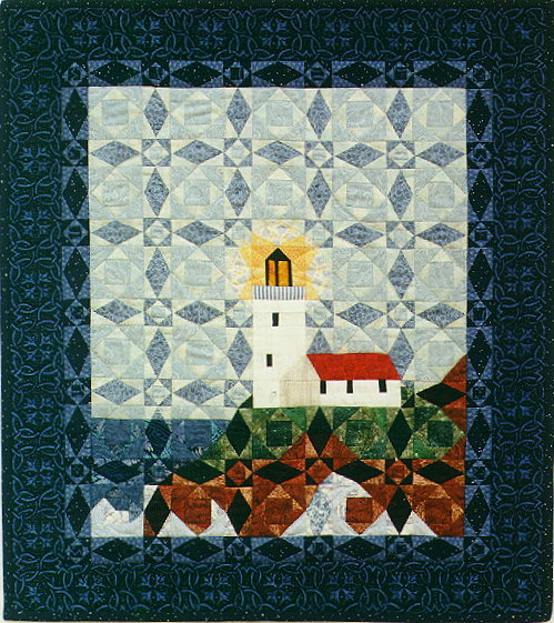 Lighthouse Quilt Pattern : QDNW Light in the storm - lighthouse quilt pattern