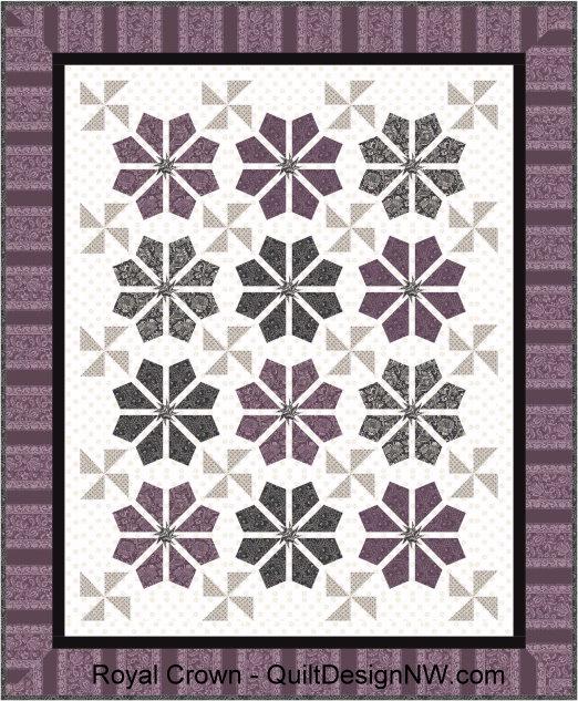 Qdnw Royal Crown Quilt Pattern