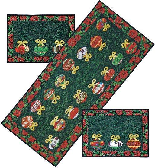 QDNW Get Set for Christmas tablerunner placemat patterns
