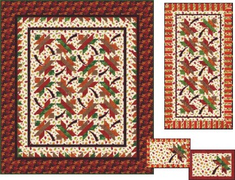 Autumn and Fall Quilt Patterns including Halloween and