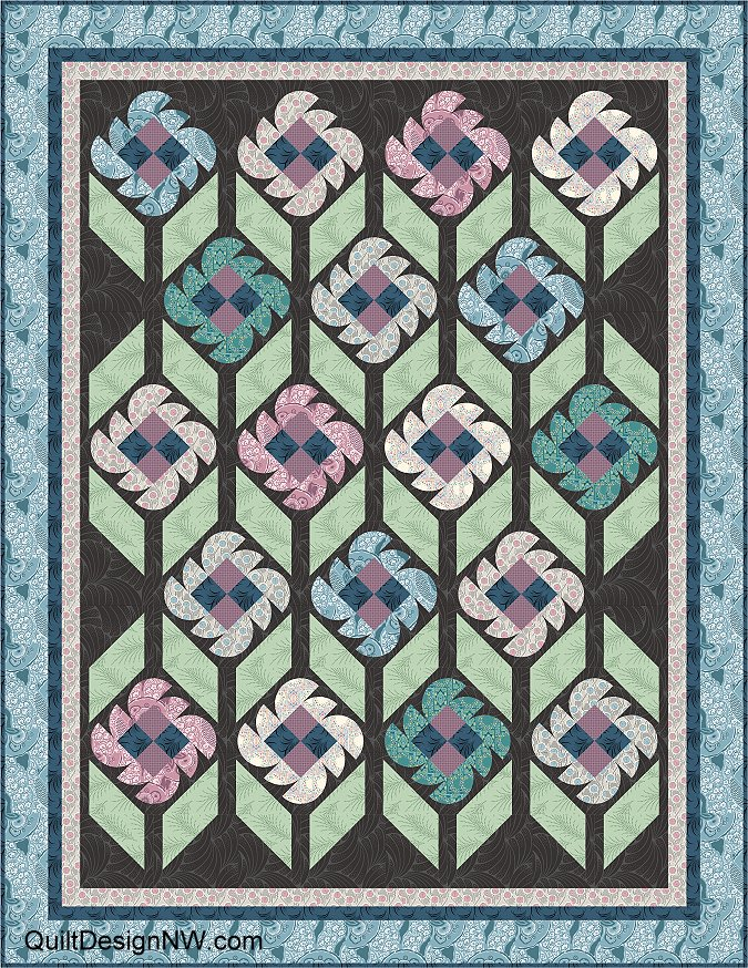 Brides Garden Quilt From Downton Abbey Fabrics