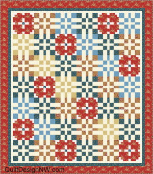 Light background Prairie Lattice quilt by Quilt Design NW