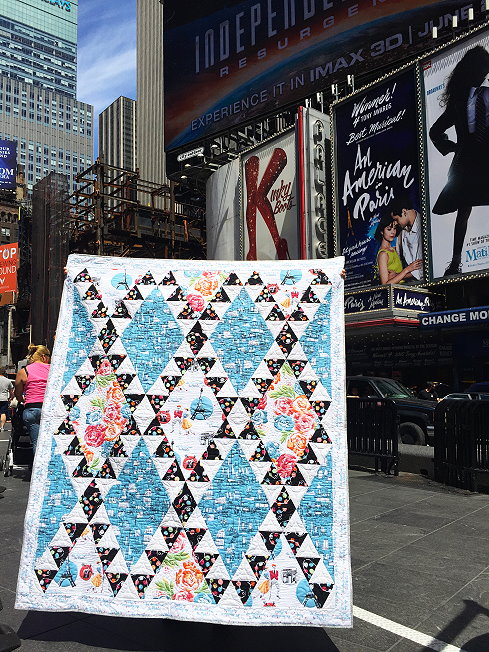 Diamond Tower quilt pattern