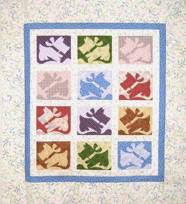 QDNW Scottie Dog quilt pattern : scottie quilt pattern - Adamdwight.com