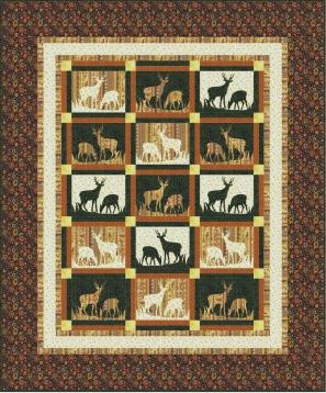 QDNW Mountain Meadow deer quilt pattern : deer quilt patterns - Adamdwight.com