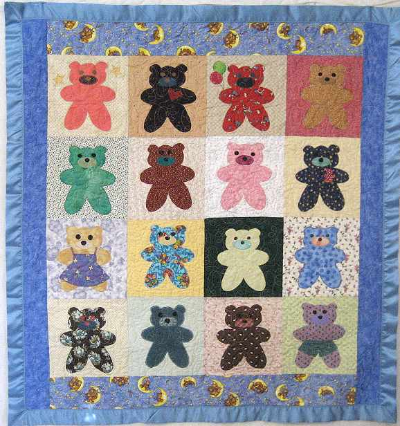Simple bear block applique pattern : bear quilt patterns - Adamdwight.com
